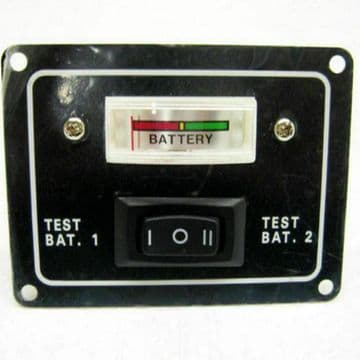 12V 2 WAY BATTERY TEST SWITCH PANEL IP65 WATER RESISTANT GAUGE ROCKER BOAT
